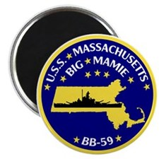 USS Massachusetts BB 59 Magnet
