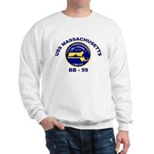 USS Massachusetts BB 59 Sweatshirt