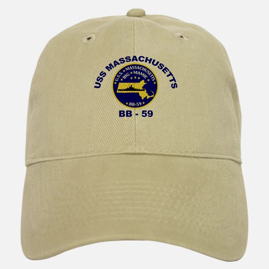 USS Massachusetts BB 59 Baseball Baseball Cap