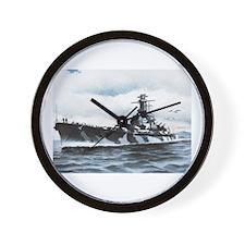 USS Alabama Ships Image Wall Clock