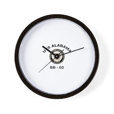 USS Alabama BB 60 Wall Clock