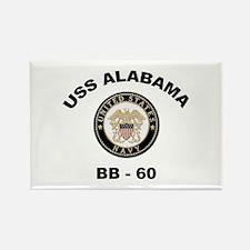 USS Alabama BB 60 Rectangle Magnet