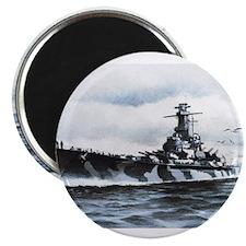 USS Alabama Ships Image Magnet