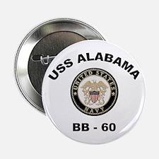 USS Alabama BB 60 Button