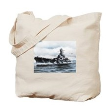 USS Alabama Ships Image Tote Bag
