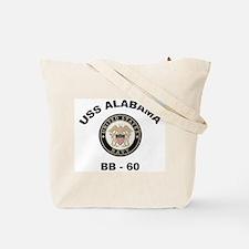 USS Alabama Ships Image Tote Bag