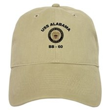 USS Alabama BB 60 Baseball Cap