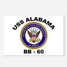 USS Alabama BB 60 Postcards (Package of 8)