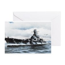 USS Alabama Ships Image Greeting Cards (Pk of 10)