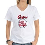 Things Go Better With Rope Women's V-Neck T-Shirt