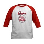 Things Go Better With Rope Kids Baseball Jersey