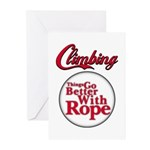Things Go Better With Rope Greeting Cards (Pk of 2