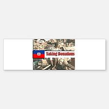 Haiti Donations Sticker (Bumper)