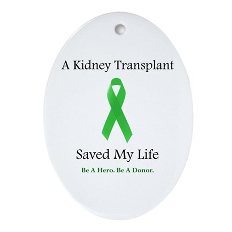 Kidney Transplant Survivor Oval Ornament