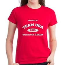 Funny Team usa curling Tee