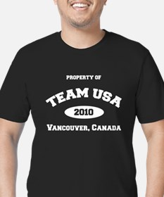 Unique Usa curling Men's Fitted T-Shirt (dark)