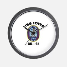 USS Iowa 61 Wall Clock