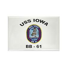 USS Iowa 61 Rectangle Magnet