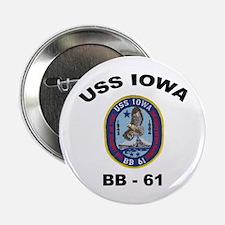 USS Iowa 61 Button