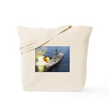 USS Iowa 61 Ships Image Tote Bag