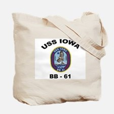 USS Iowa 61 Ships Image Tote Bag