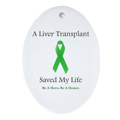 Liver Transplant Survivor Oval Ornament