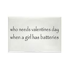 Battery Girl Rectangle Magnet