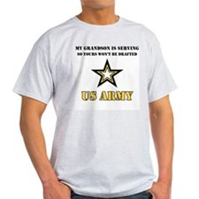 US Army Grandson Serving Ash Grey T-Shirt