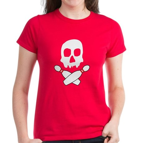 Skull Bowling Women's Dark T-Shirt