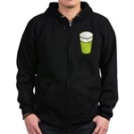 Green Beer Zip Hoodie (dark)