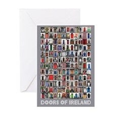 Doors of Ireland Greeting Card