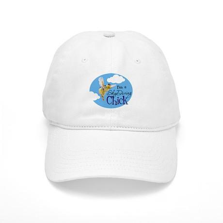 Skydiving Chick Cap
