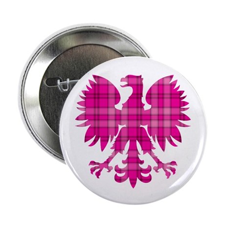 "Pink Plaid Polish Eagle 2.25"" Button (10 pack)"