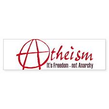 Atheism isn't Anarchy Bumper Sticker