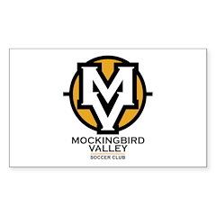 Mockingbird Soccer Logo Sticker (Rectangle)