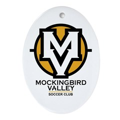 Mockingbird Soccer Logo Ornament (Oval)