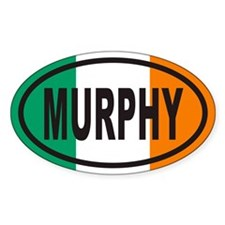 MURPHY Irish Flag Euro Oval Decal