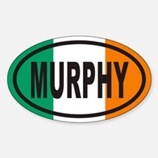 MURPHY Irish Flag Euro Oval Decal