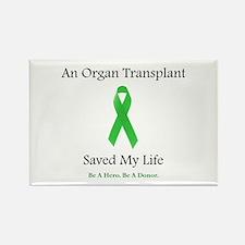 Saving Transplant Rectangle Magnet