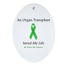 Saving Transplant Oval Ornament