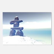 Winter inukshuk Postcards (Package of 8)
