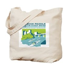 Clean Water Paddle Tote Bag