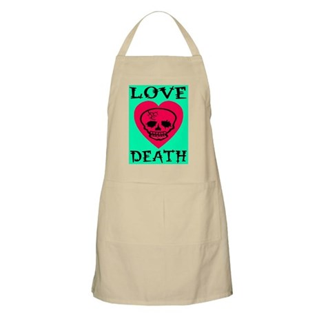 Death of Love Jadded Skull He BBQ Apron