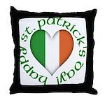 Tricolour Heart Throw Pillow