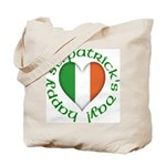 Tricolour Heart Tote Bag
