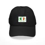 Tricolour Heart Black Cap