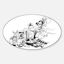 Kenny The Rat Sticker (Oval)