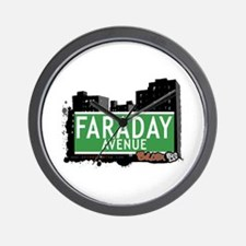 Faraday Av, Bronx, NYC Wall Clock