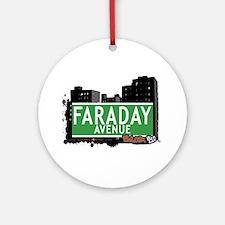 Faraday Av, Bronx, NYC Ornament (Round)