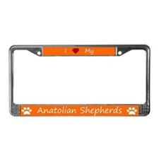 Orange I Love My Anatolian Shepherds Frame